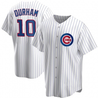 Youth Leon Durham Chicago White Replica Home Baseball Jersey (Unsigned No Brands/Logos)