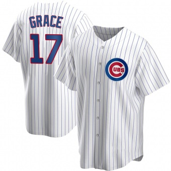 Youth Mark Grace Chicago White Replica Home Baseball Jersey (Unsigned No Brands/Logos)
