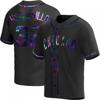 Youth Michael Hermosillo Chicago Black Holographic Alternate Baseball Jersey (Unsigned No Brands/Logos)