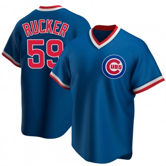Youth Michael Rucker Chicago Royal Replica Road Cooperstown Collection Baseball Jersey (Unsigned No Brands/Logos)
