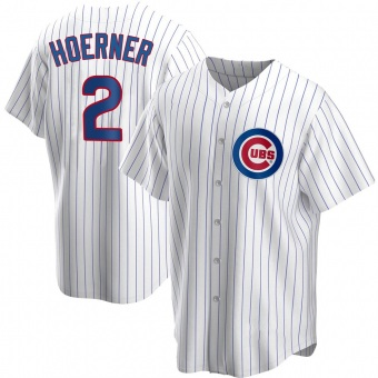 Youth Nico Hoerner Chicago White Replica Home Baseball Jersey (Unsigned No Brands/Logos)