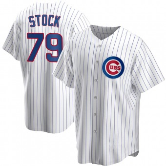 Youth Robert Stock Chicago White Replica Home Baseball Jersey (Unsigned No Brands/Logos)