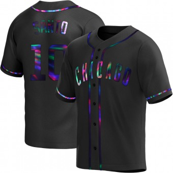 Youth Ron Santo Chicago Black Holographic Replica Alternate Baseball Jersey (Unsigned No Brands/Logos)