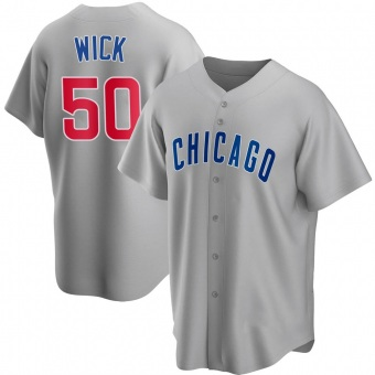 Youth Rowan Wick Chicago Gray Replica Road Baseball Jersey (Unsigned No Brands/Logos)