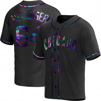 Youth Ryan Meisinger Chicago Black Holographic Alternate Baseball Jersey (Unsigned No Brands/Logos)