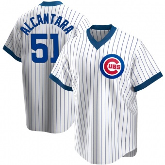 Youth Sergio Alcantara Chicago White Replica Home Cooperstown Collection Baseball Jersey (Unsigned No Brands/Logos)