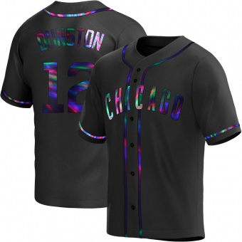 Youth Shawon Dunston Chicago Black Holographic Replica Alternate Baseball Jersey (Unsigned No Brands/Logos)