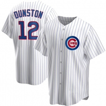 Youth Shawon Dunston Chicago White Replica Home Baseball Jersey (Unsigned No Brands/Logos)