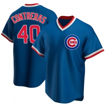 Youth Willson Contreras Chicago Royal Replica Road Cooperstown Collection Baseball Jersey (Unsigned No Brands/Logos)