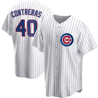 Youth Willson Contreras Chicago White Replica Home Baseball Jersey (Unsigned No Brands/Logos)